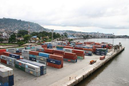 Hafen von Freetown