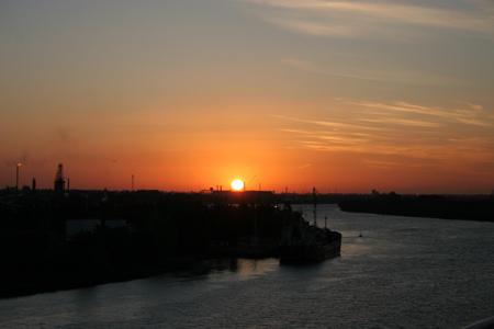Sonnenuntergang am Rio Parana