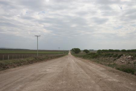 Ruta Richtung Sierra de la Ventana