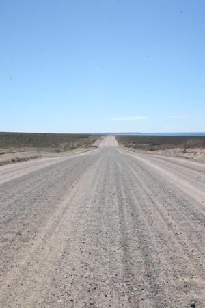 Wellblechpiste nach Punta Flecha