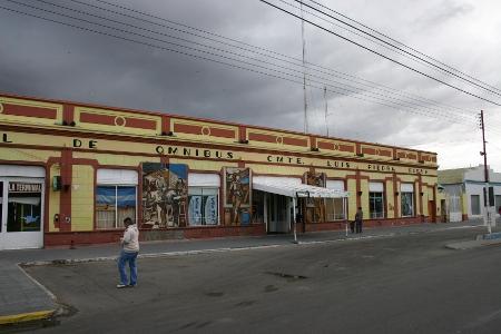 Busstation von Piedra Bruna